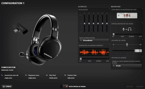 Software SteelSeries Arctis 1 Wireless
