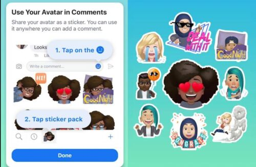 Facebook Avatar Stickers